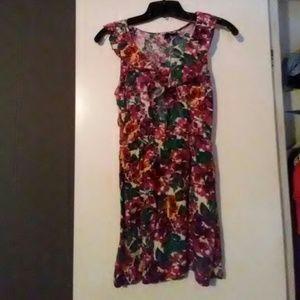Floral print summer mini dress